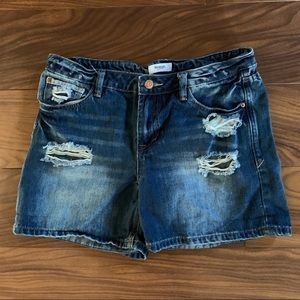 KENSIE Distressed Jean Shorts, Size 6